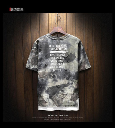 Best Seller Men Fashion Design Short Sleeve Tactical Camouflage T-shirt