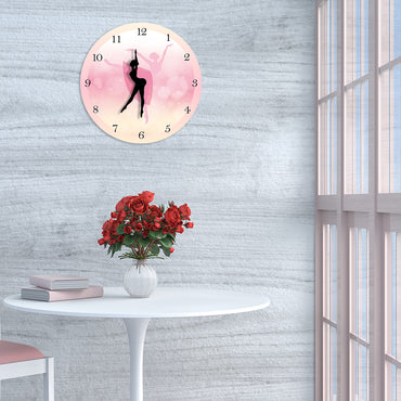 Ballerina Moving Leg Dancing Girl Wall Clock