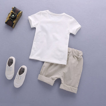 Kids Boy Clothing Set Cute T-Shirt & Shorts Baby Boy Outfit Set