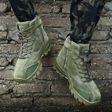 Men Boots Military Style Cool Fashion Rubber Sole Combat Boots