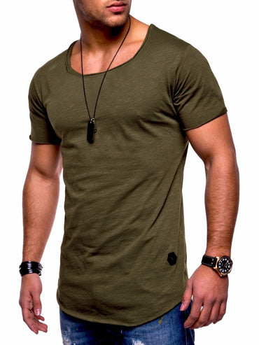 Fashion Style Deep V Neck Men Slim Fit T-shirt