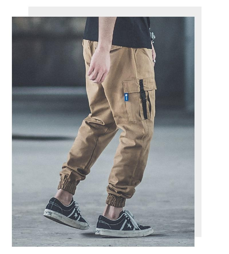 Punk Style Fashion Men Army Loose Fit Jogger Pants