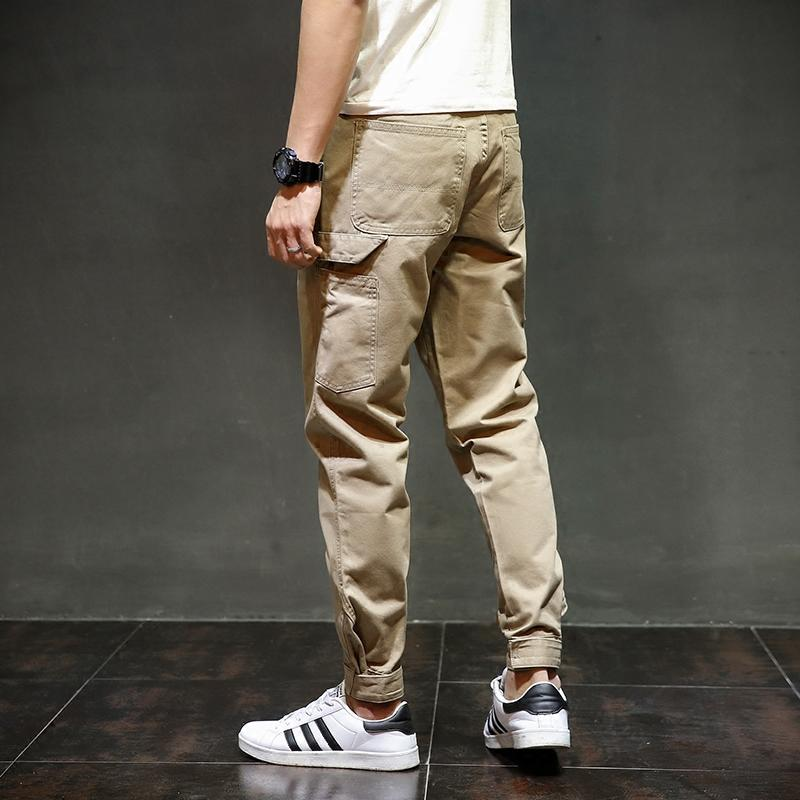 Fashion Streetwear Mens Boot Cut Slim Fit  Ankle Banded Jogger Pants