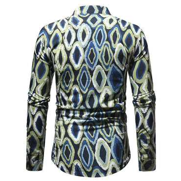 Men Fashion Designe Slim Fit Long Sleeve Dress Shirts