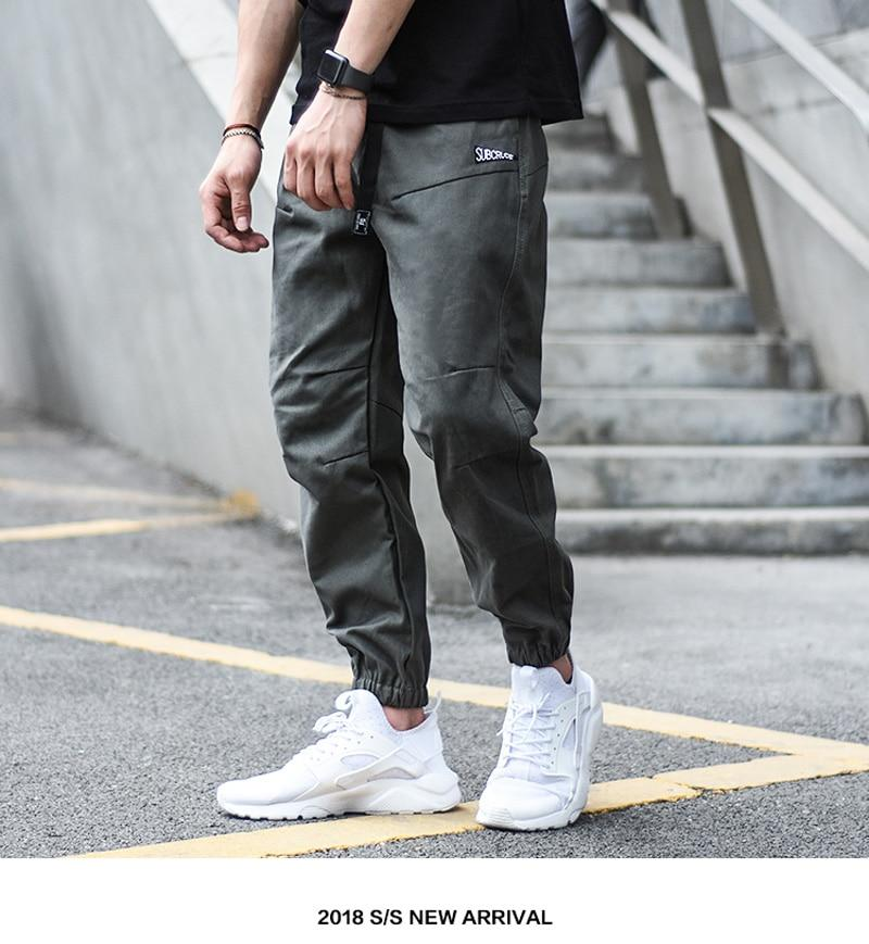 Hot Style Vintage Fashion Men Elastic Waist Buckle Loose Fit Hip Hop Jeans