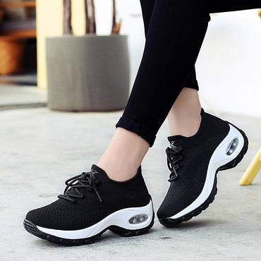 Women Platform Sneakers Air Cushion Fashion Thick Sole Casual Chunky Shoes