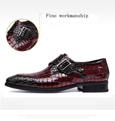 Luxury Men Genuine Cow Leather Handmade Vintage Oxfords Dress Shoes