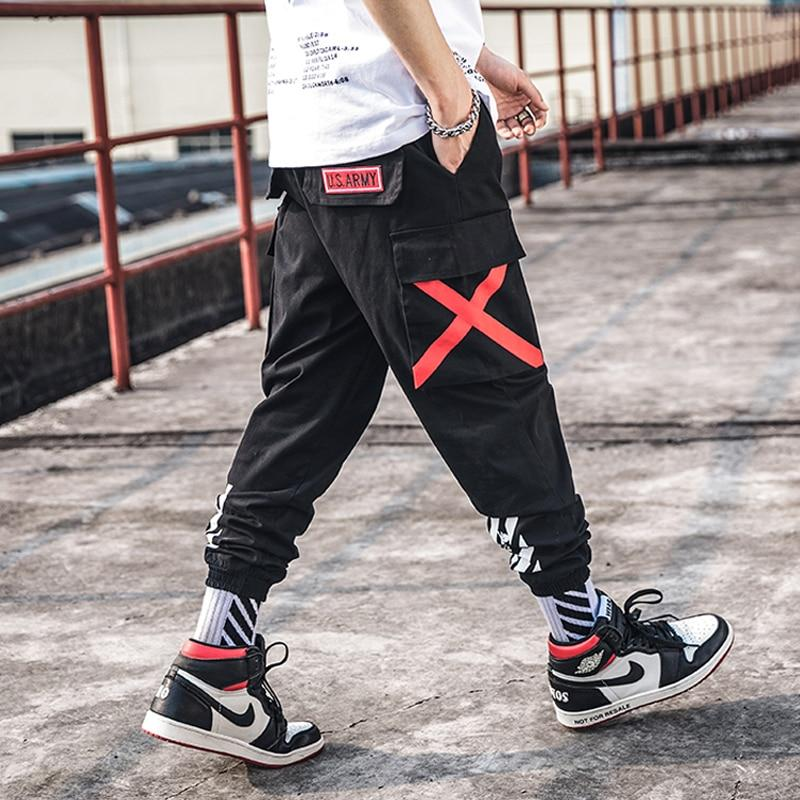 Men Fashion Cargo Pants Street Style Cotton Camouflage Slim Sweatpants