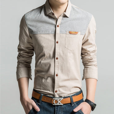 Fashion Design Men High Quality Slim Fit Long Sleeve Shirt