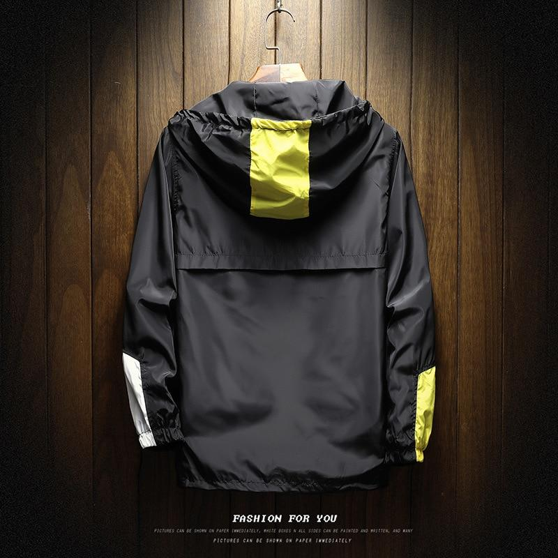 Men Jackets Waterproof Steetwear Cool Style Hooded Jacket