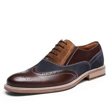 Luxury Fashion Men Genuine Leather Handmade Oxfords Dress Shoes