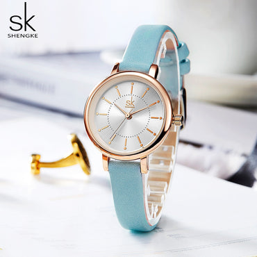 Luxury Fashion Women Leather Band Quartz Wristwatch