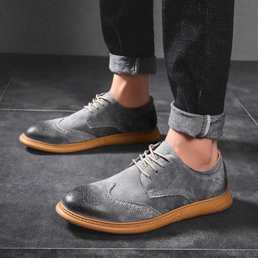 Men Oxford Shoes British Style Fashion Brand Breathable Dress Shoes
