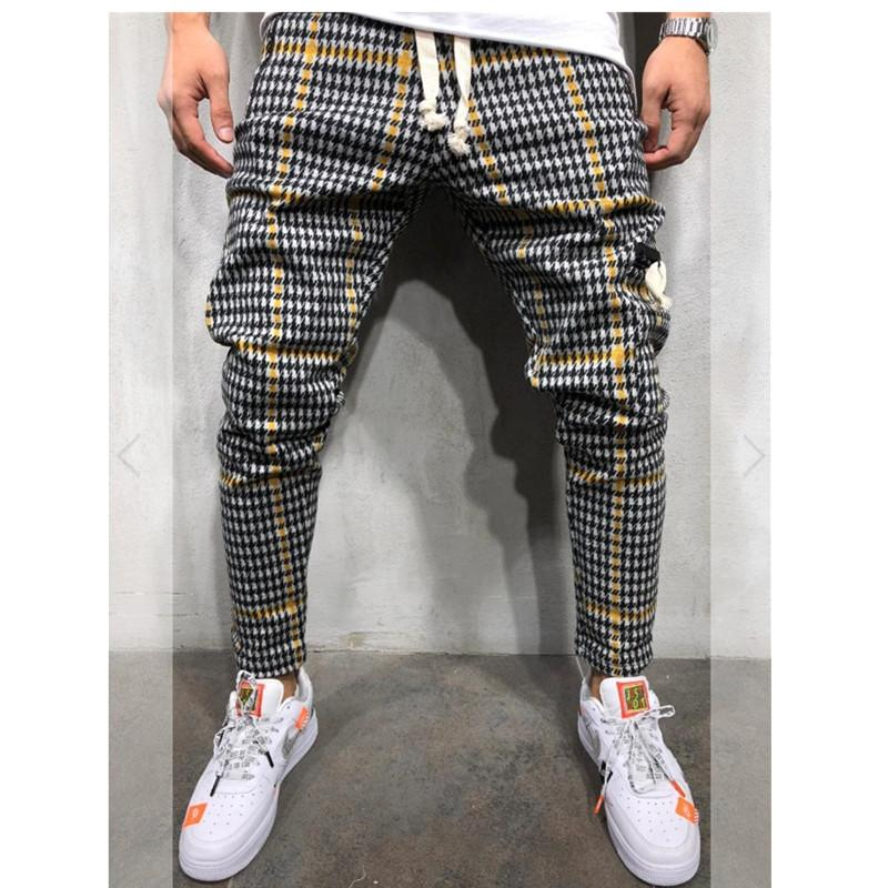 Hot Men's Side Stripe Hip Hop Skinny Jogger Sweatpants