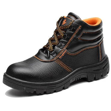 Men Ankle Boots Safety Anti-smashing Piercing Steel Toe Boots
