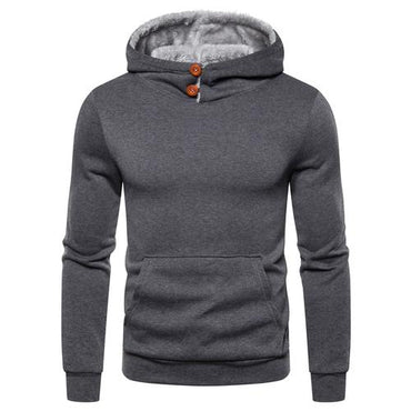 New Fashion Men's Long Sleeve Fleece Pullover Hoodie