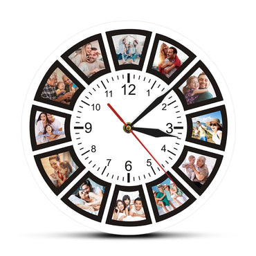 Custom Family Photos Decorative Wall Clock