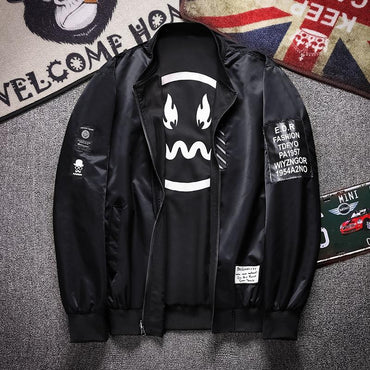 Men Reversible Jacket Two Side Wear Baseball High Quality Bomber Jacket