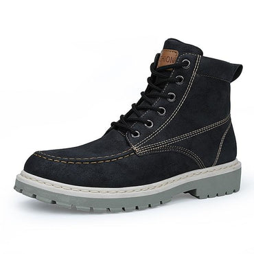 Men Boots Super Warm High Quality Leather Leisure Skid Retro Lace Up Boots