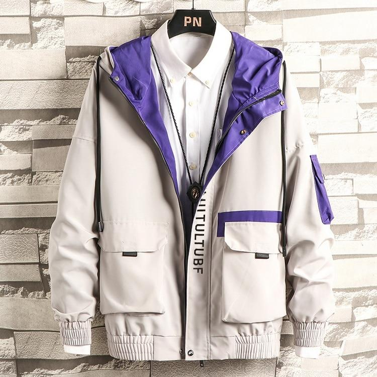 Men Bomber Jacket Top Brand Designer Steetwear Big Pockets Windbreaker Fashion Jacket