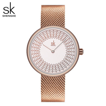 Elegant Design Women Premium Stainless Steel Meshband Quartz Watches