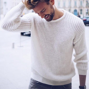 Trendy Fashion Men Sweater  Wool Knitted Casual Style