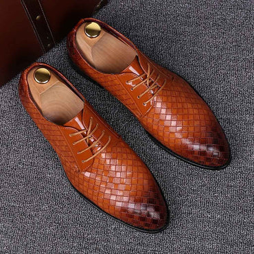 Men Dress Shoes High Quality England Style Fashion Business Shoes