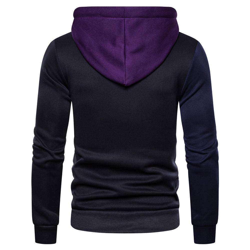 Mens Hoodie New Arrival Fashion Patchwork  Streetwear Hoodies