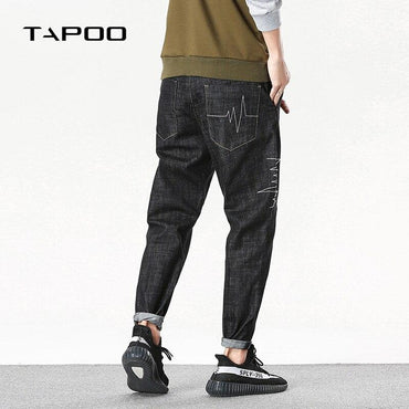 Top Brand Men Line Stripe Casual Harem Jeans Pants