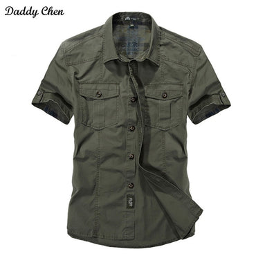 Men Premium Quality Cotton Short Sleeve Casual Shirt