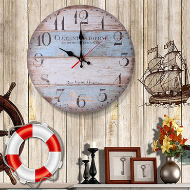Vintage Wooden Antique Style Decorative Wall Clock