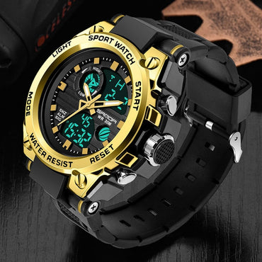 Fashion Style Men Military Dual Display Waterproof Sport Watches