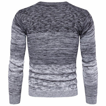 Fashion Men Sweater Round Neck Warm Autumn Winter Long Sleeve Pullover