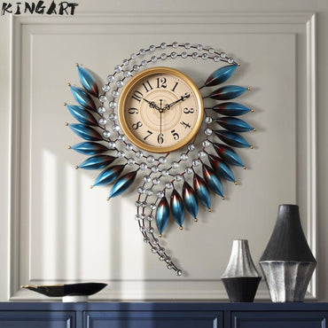 Luxury Large Size Abstract 3D Art Decorative Wall Clock