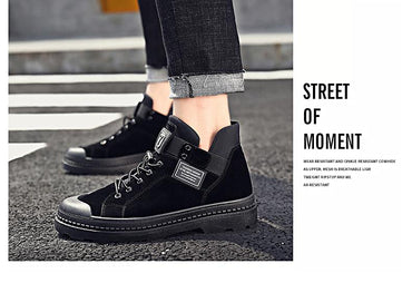 Men's Boots High Quality Leather Fashion Trend Waterproof Basic Boots