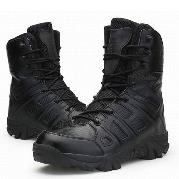 Men Tactical Military Boots Winter Leather Waterproof Ankle Boots Premium Quality