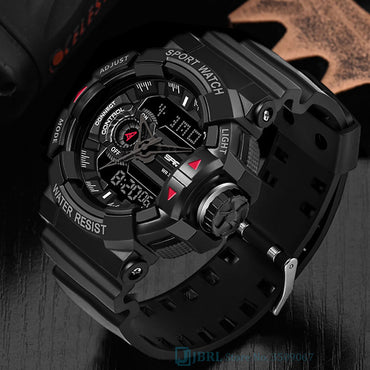 Men Military Army Sport Wristwatch Dual Display Waterproof