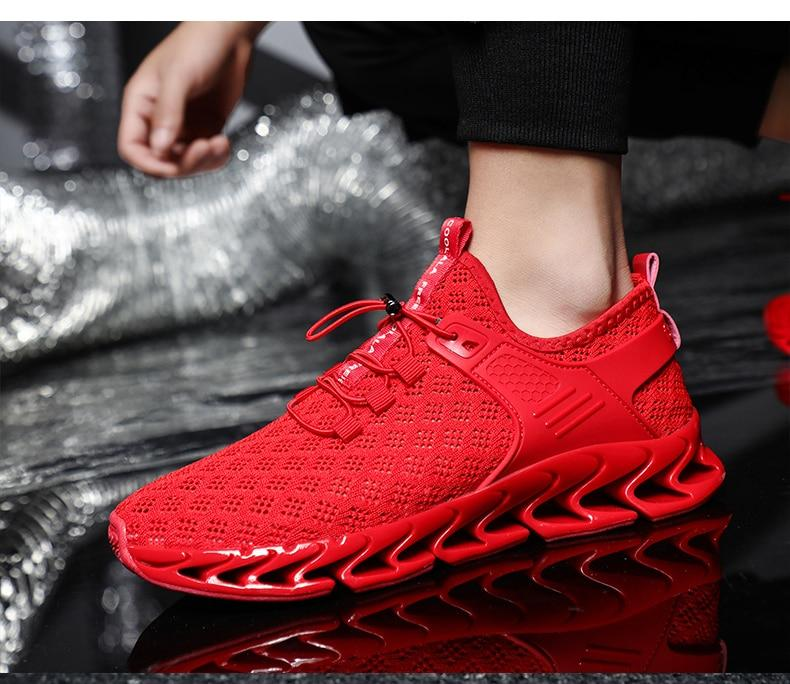 Men's Running Shoes Hollow Breathable Blade Sneakers