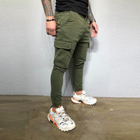 Men Sweatpants Fashion Streetwear Zipper Pocket Casual Pants