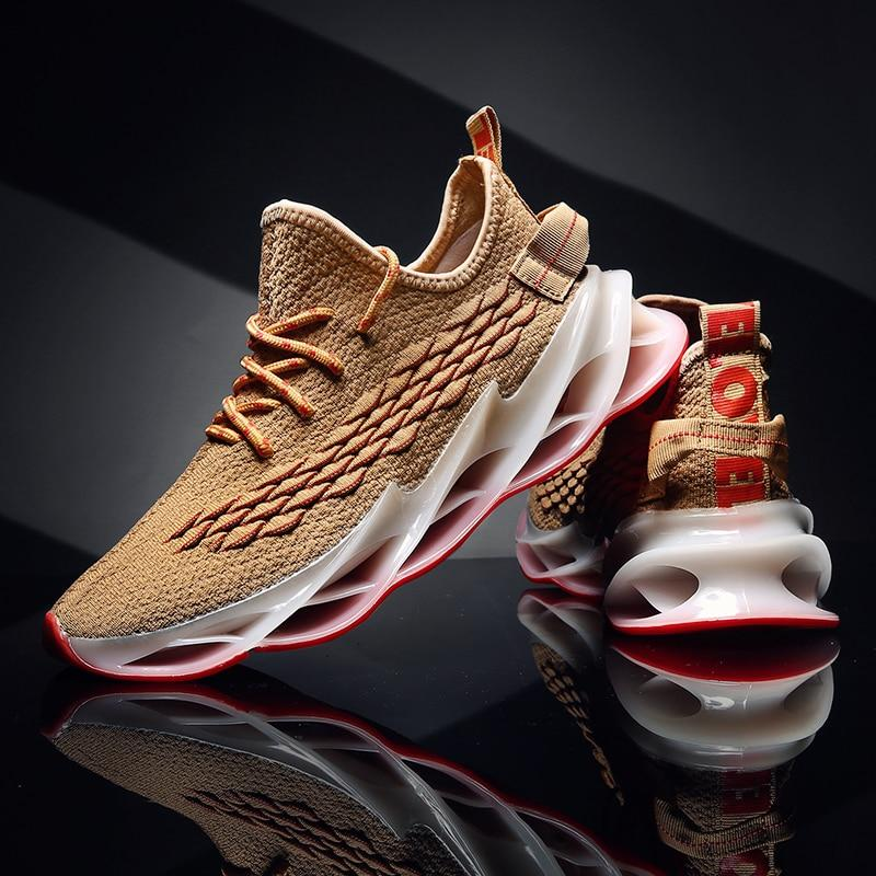 Men Cushioning Blade Sneakers Breathable Fashion Design Outdoor Walking Shoes