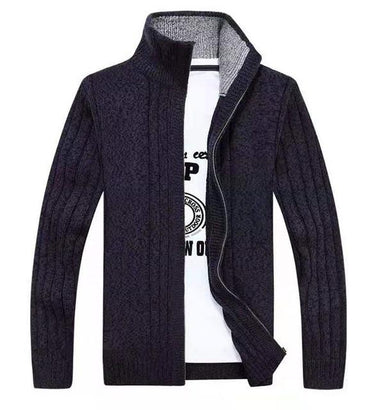 Men Sweaters Premium Quality Wool Cotton Knitted Fashion Zipper Cardigan