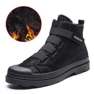 Men Ankle Boots Military Style Plush Warm  Top Quality Winter Boots