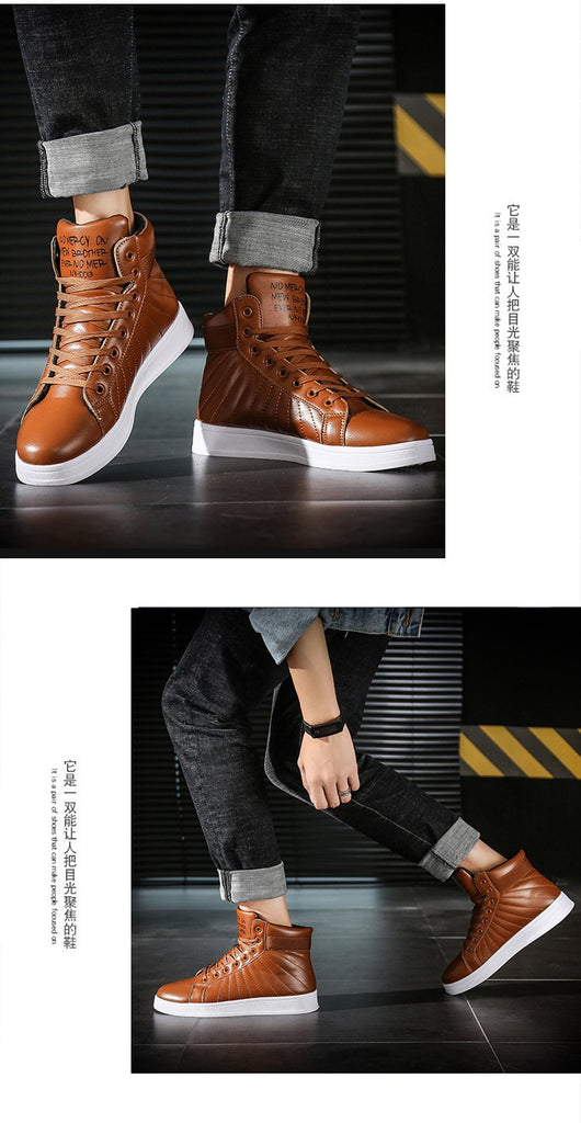Men Winter Boots Super Warm Fur  Rubber Wear-resistant Leather Ankle Boots