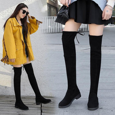 Winter Women Over The Knee Boots Stretch Fabric Thigh High Sexy Long Booties