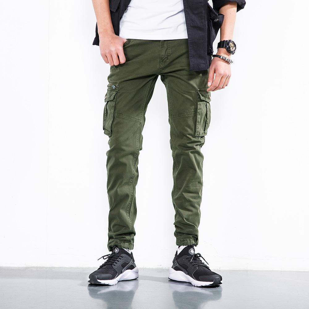 Men Cargo Pants Cool Style Zipper Fly High Quality Military Cotton Joggers