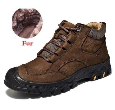Men Boots Super Warm Premium Quality Suede Leather Fur Plush Winter Ankle Boots