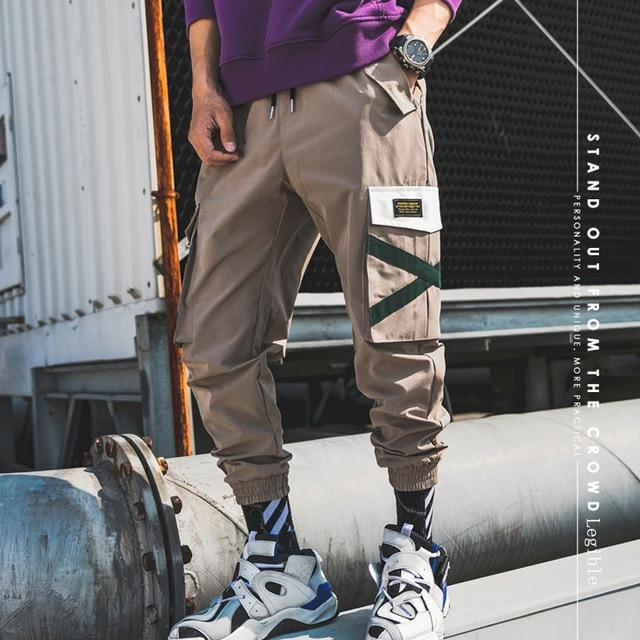 Men Harem Pants Cool Streetwear Lightweight Hip Hop Casual Joggers