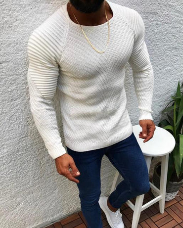 Fashion Autumn Winter Men Sweater New Arrival Casual Long Sleeve O-Neck Patchwork Knitted
