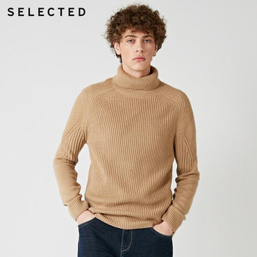 Fashion Brand Men Sweater High Neck Multiple Colors Knitted Wool-blend Pullover