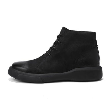Men Ankle Boots High Quality Leather Cool Street Style Lace Up Boots